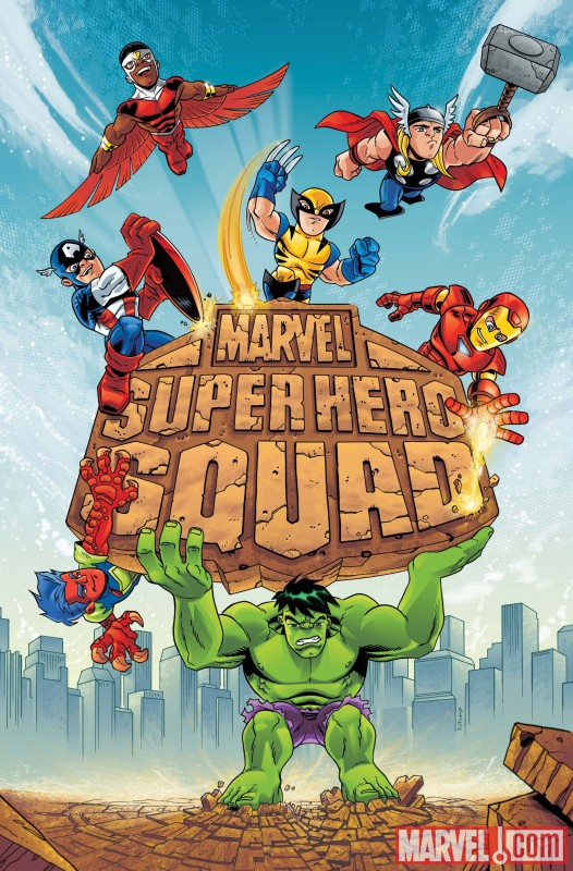 Image Featuring Captain America, Falcon, Hulk, Iron Man, Thor, Wolverine