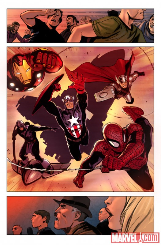 Image Featuring Spider-Man, Thor, The Winter Soldier, Hawkeye, Iron Man