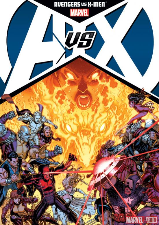 Avengers Vs. X-Men hardcover Nick Bradshaw cover