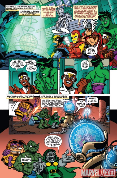 Super Hero Squad #8 preview art by Leonel Castellani
