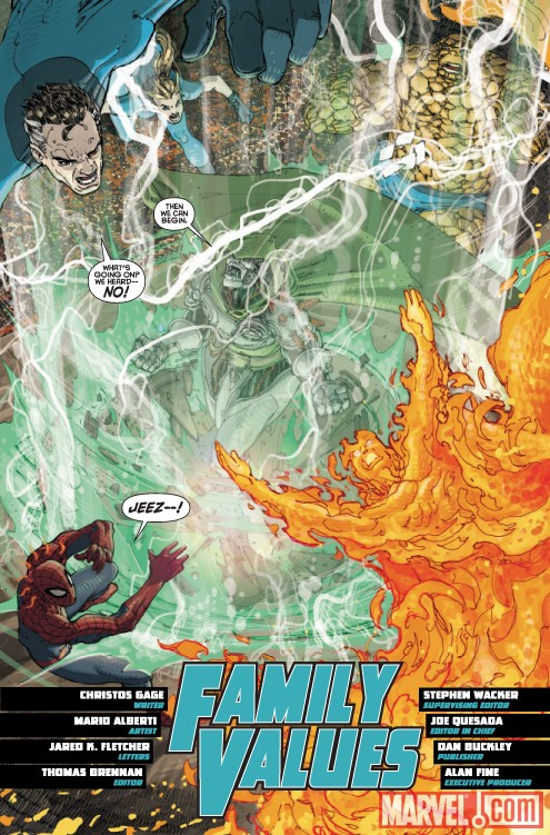 SPIDER-MAN / FANTASTIC FOUR #4 preview page by Mario Alberti
