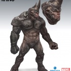 Concept art of the Rhino from the Amazing Spider-Man video game