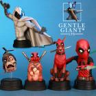 Gentle Giant Releases New Moon Knight and Deadpool Corps Mini Busts