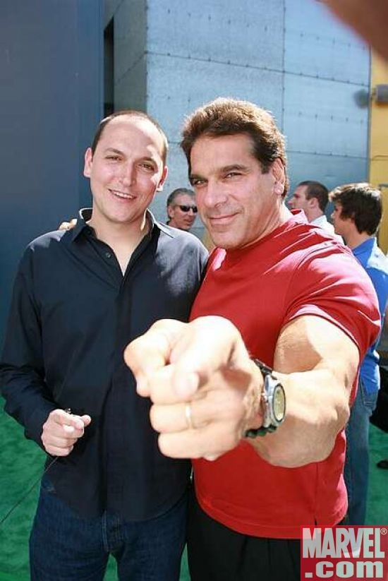 Director Louis Leterrier and Lou Ferrigno