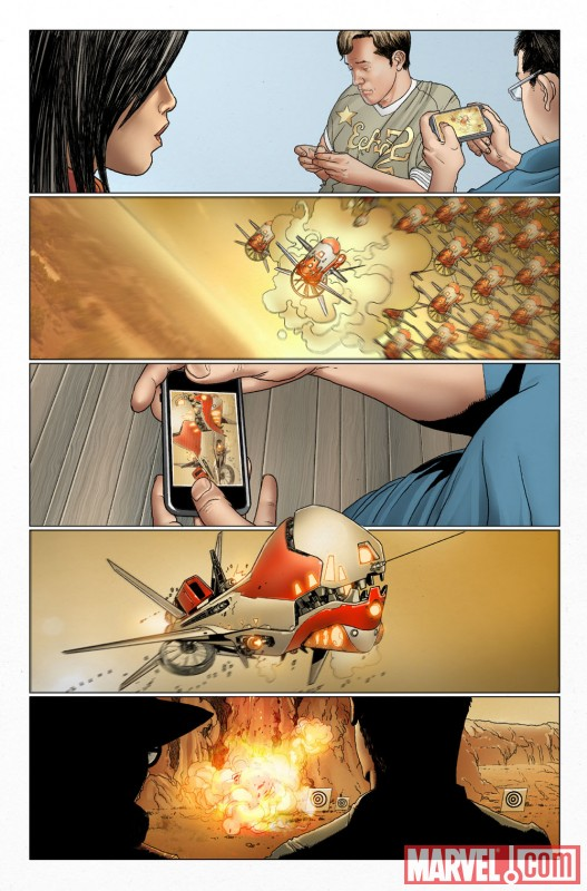 INVINCIBLE IRON MAN #29 preview art by Salvador Larroca 4