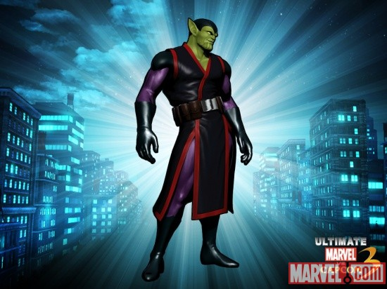 Alternate Super-Skrull skin from the Villain DLC pack for Ultimate Marvel vs. Capcom 3