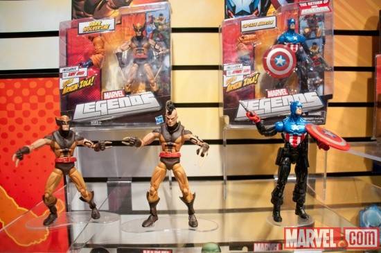 Hasbro Marvel Universe Build A Figure Dark Wolverine and Captain America