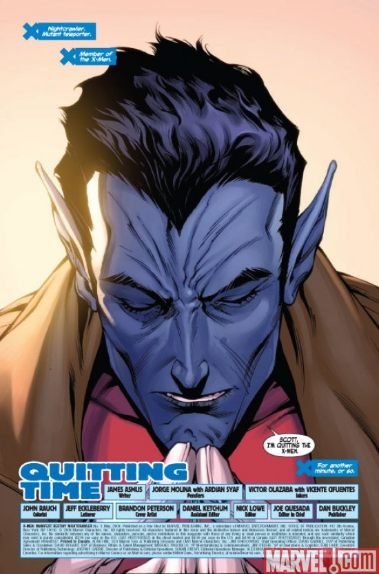 X-MEN: MANIFEST DESTINY - NIGHTCRAWLER #1 preview page 1