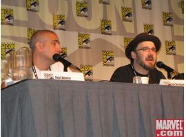 Axel Alonso and Ed Brubaker