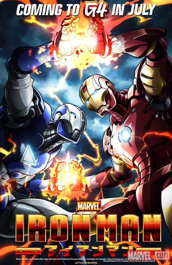 C2E2 exclusive Iron Man Anime poster