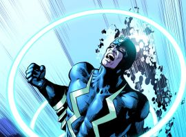 Black Bolt card art by Mike Deodato from Marvel War of Heroes