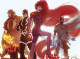 Inhumans: Attilan Rising #1 variant cover by W. Scott Forbes