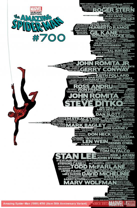 Amazing Spider-Man #700 50th Anniversary Variant