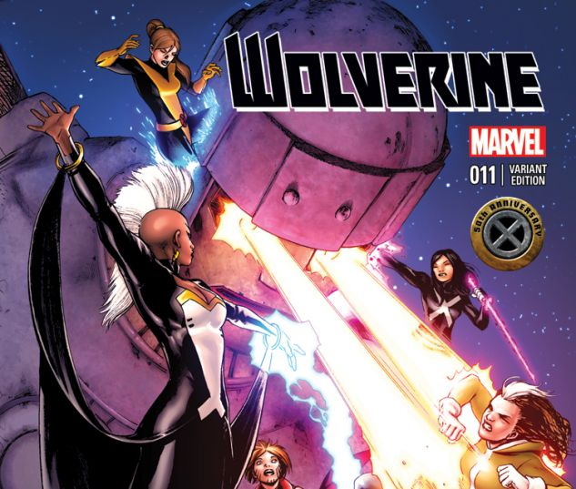 WOLVERINE 11 LOPEZ X-MEN 50TH ANNIVERSARY VARIANT (NOW, WITH DIGITAL CODE)