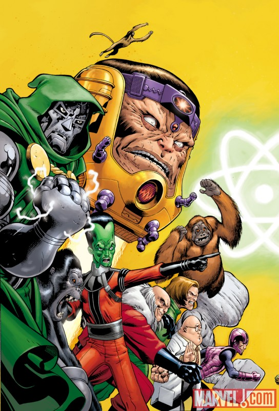 Image Featuring Doctor Doom, Leader, Mad Thinker, Red Ghost