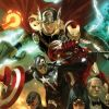 Image Featuring Edwin Jarvis, Avengers, Hawkeye, Iron Man, Marvel Boy, Spider-Woman (Jessica Drew), Thor