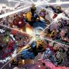 Image Featuring Captain America, Starfox, Captain Marvel (Mar-Vell), Doctor Doom, Doctor Strange, Hulk, Iron Man, Moondragon, Spider-Man, Thanos, Adam Warlock