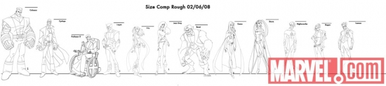 Image Featuring Nightcrawler, Professor X, Kitty Pryde, Rogue, Storm, Beast, Wolverine, Colossus, Cyclops, Emma Frost, Jean Grey