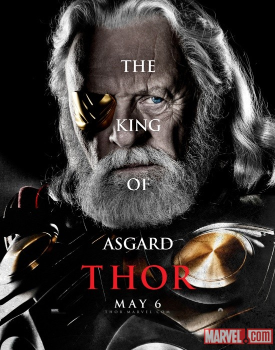 Odin character one-sheet from Thor