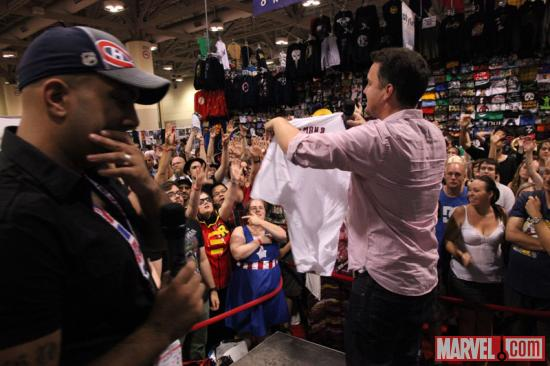 Arune Singh and Stephen Wacker at the Marvel Booth at Fan Expo 2012