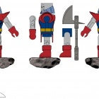 Marvel Heralds of Galactus Minimates - Terrax concept art from Diamond Select