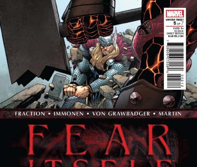 FEAR ITSELF 5 2ND PRINTING VARIANT