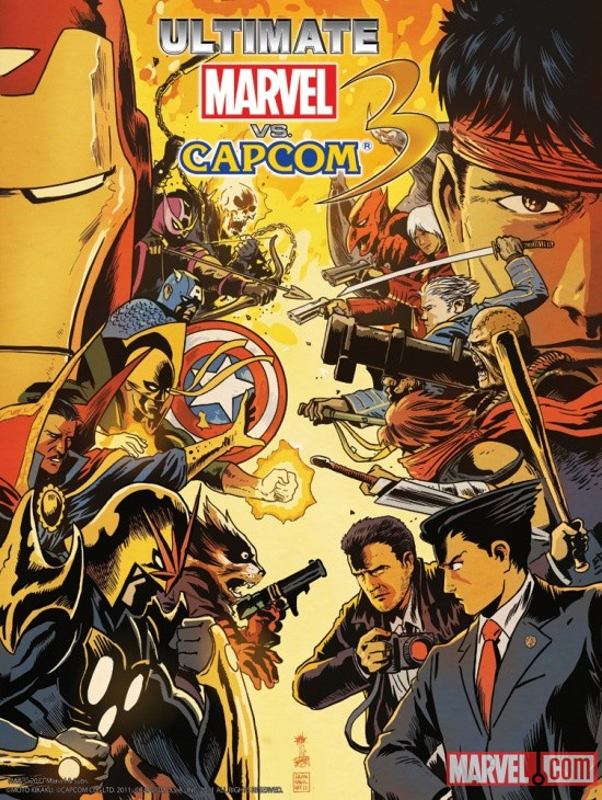 Ultimate Marvel vs. Capcom 3 Poster by Francesco Francavilla