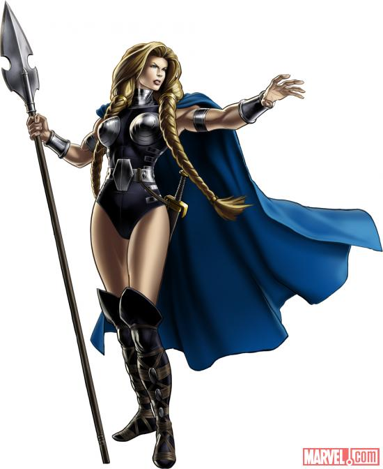 Valkyrie character model from Marvel: Avengers Alliance