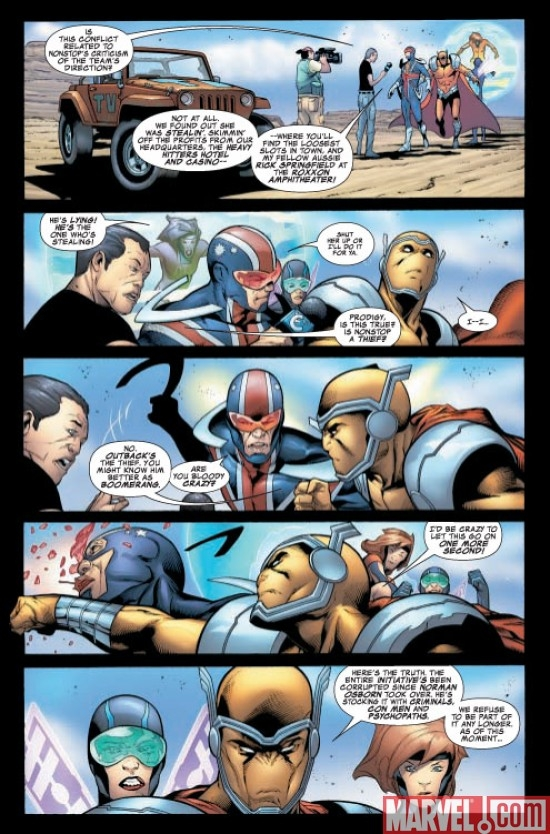 Avengers: The Initative #28 Preview page 3