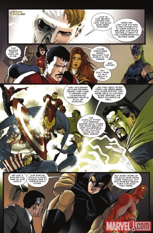Image Featuring Spider-Man, Jimmy Woo, 3-D Man, Luke Cage, Captain America, Doctor Strange, Hawkeye, Hulk, Iron Man