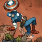 Ultimate Comics Captain America #3 cover by Ron Garney