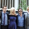 Zoe Kravitz, Kevin Bacon, January Jones, James McAvoy and Michael Fassbender at the 'X-Men: First Class' red carpet event in NYC