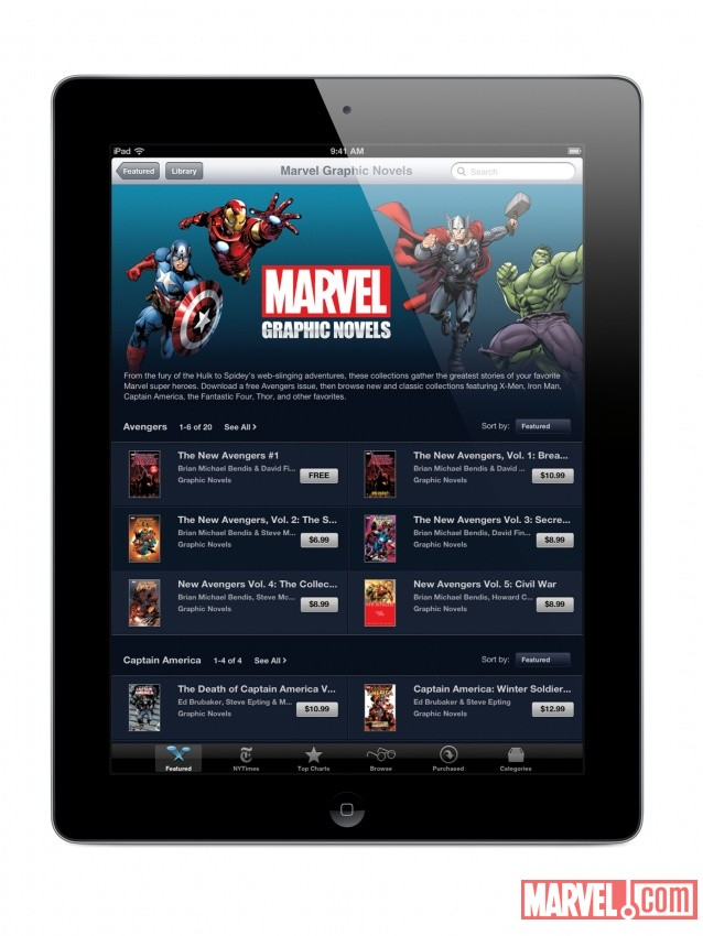Marvel Graphic Novels on Apple's iBookstore