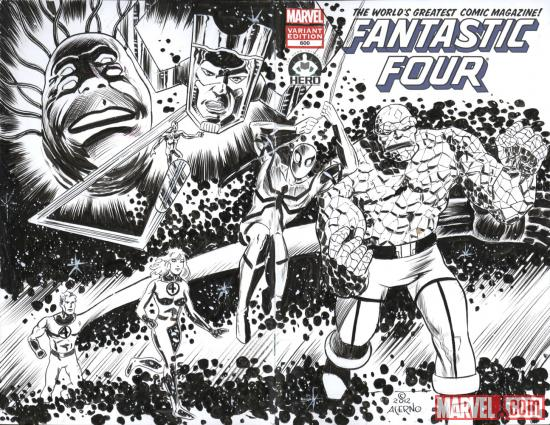 Fantastic Four #600 Hero Initiative variant cover by Gerry Acerno