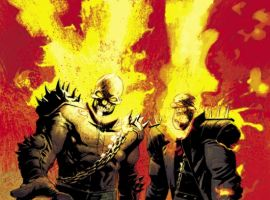 GHOST RIDERS: HEAVENS ON FIRE #3 art by Roland Boschi