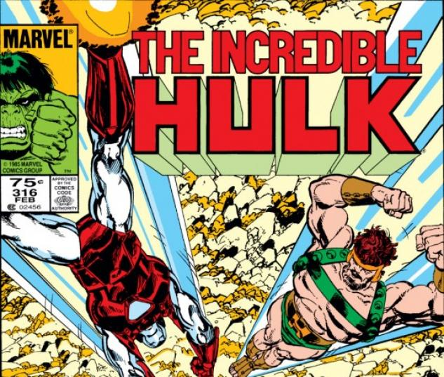 INCREDIBLE HULK #316 COVER