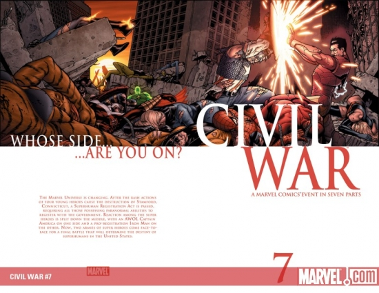 CIVIL WAR (2008) #7 COVER