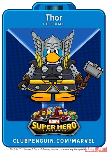 Thor Suit from Club Penguin