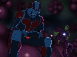 Ant-Man & Iron Man have a discussion on the microscopic level in Marvel's Avengers Assemble