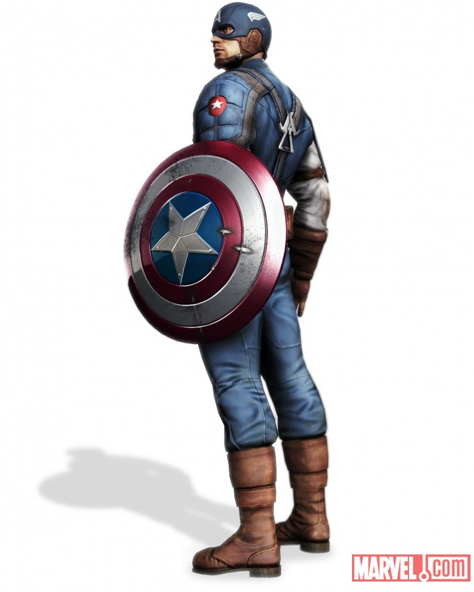 Captain America render from Captain America: Super Soldier by Next Level Games