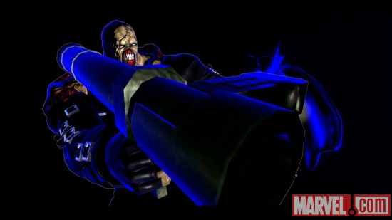 Screenshot of Nemesis from Ultimate Marvel vs. Capcom 3
