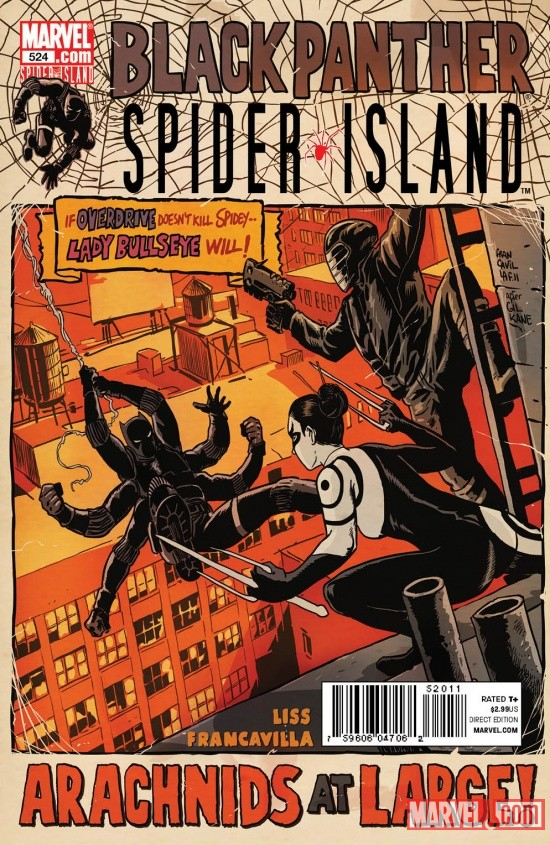 Black Panther in Spider-Island art by Francesco Francavilla