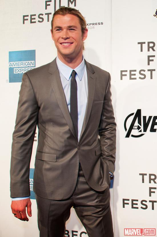 Chris Hemsworth at the Tribeca Film Festival screening of Marvel's The Avengers