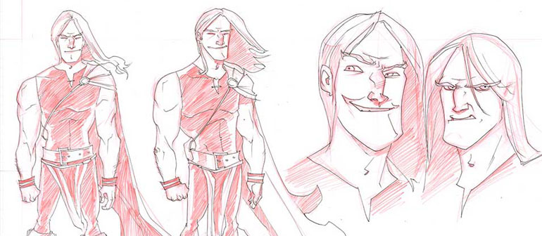 Exclusively Explore Rob Guillory's Thor Sketchbook