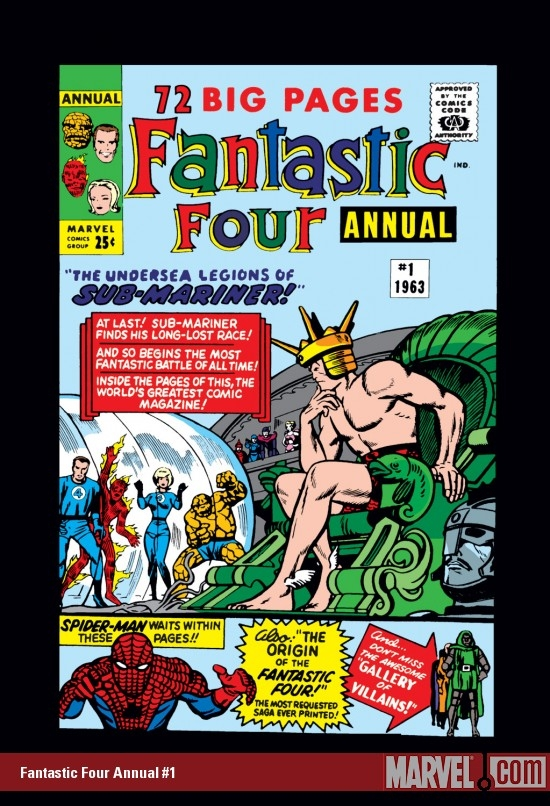FANTASTIC FOUR ANNUAL #1 COVER