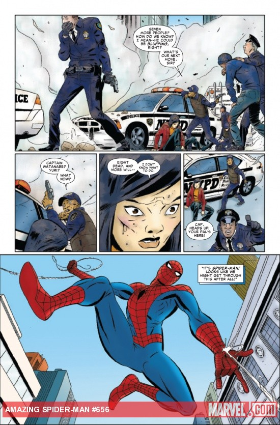 AMAZING SPIDER-MAN #656 (1999) preview art by Marcos Martin