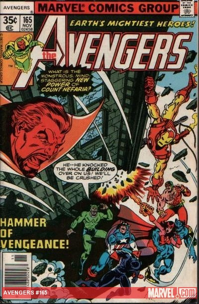 Avengers #165 cover by George Perez