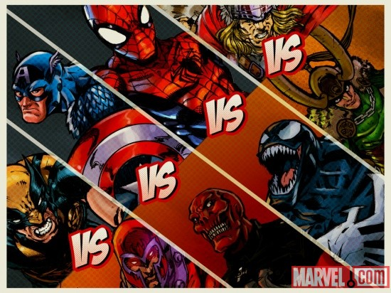 Marvel KAPOW! vs. screen