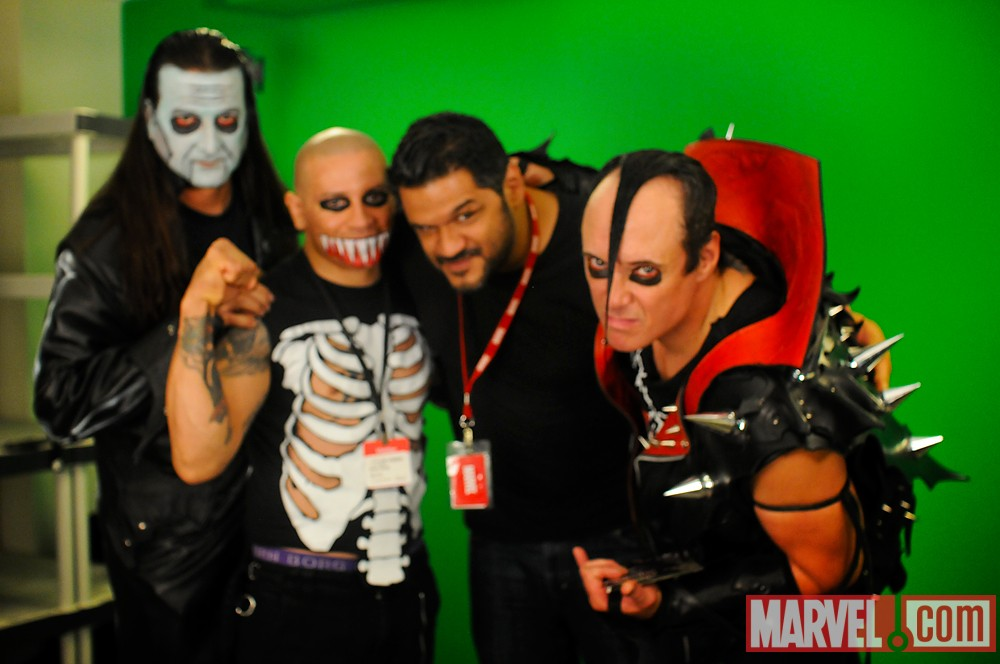 Video Editor Richard Herrera with The Misfits at Marvel HQ in NYC