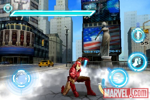 Iron Man touches down in the Iron Man 2 iPhone game